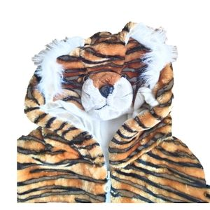 Very Warm Tiger Vest with Tiger Face Hoodie.